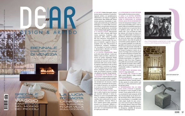 Interview with Altrosguardo Design e Arredo Ottobre 2012