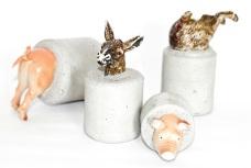 Animal Farm Mini-sculptures / Paperweights by Altrosguardo