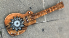 Guitar sculpture by Altrosguardo