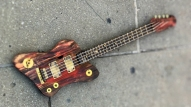 Bass Guitar sculpture by Altrosguardo